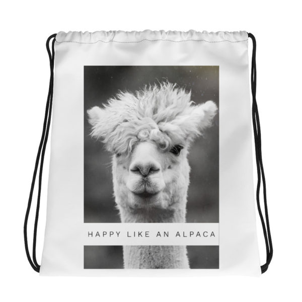 Alpaka Umhängebeutel - Happy like an Alpaca