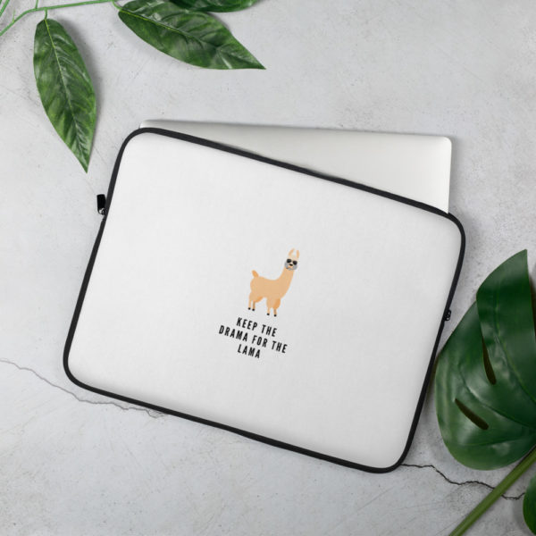 Alpaka Laptoptasche - Keep the Drama for the Lama