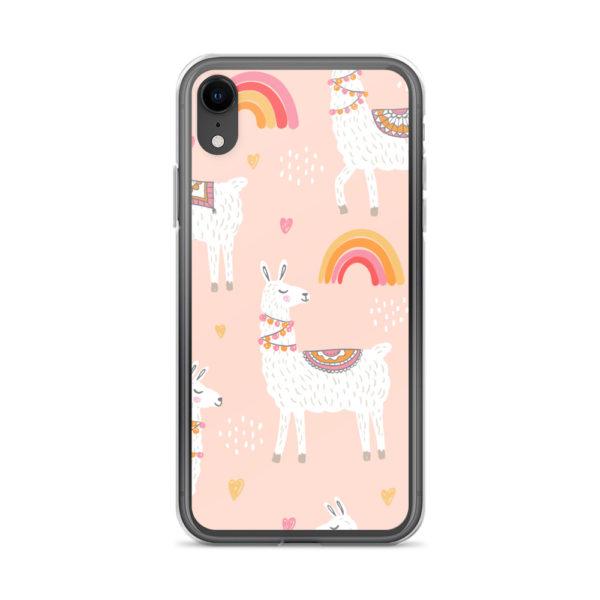 Alpaka Handyhülle iPhone- Regenbogen