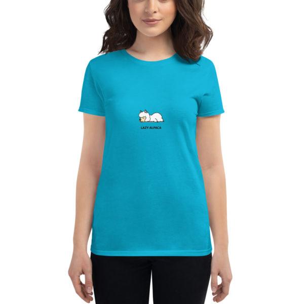 Alpaka T-Shirt türkis - Lazy Alpaca
