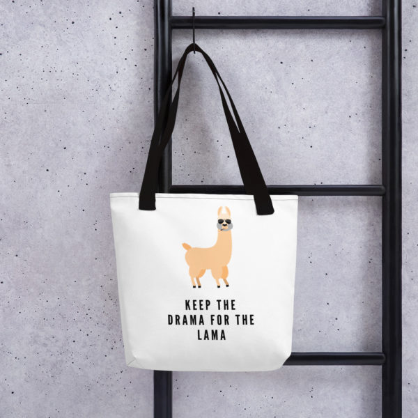 Alpaka Tasche schwarz- Keep the Drama for the Lama