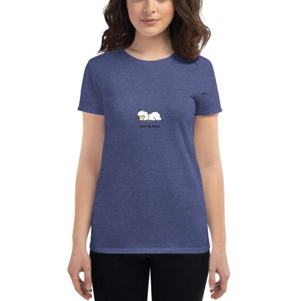Alpaka T-Shirt blau - Lazy Alpaca