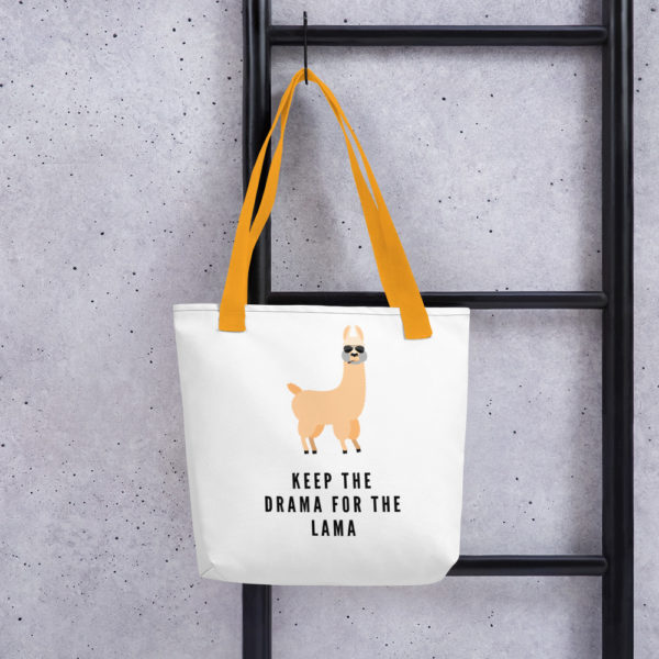 Alpaka Tasche gelb- Keep the Drama for the Lama