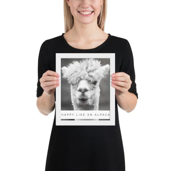 Alpaka Poster - Happy like an Alpaca