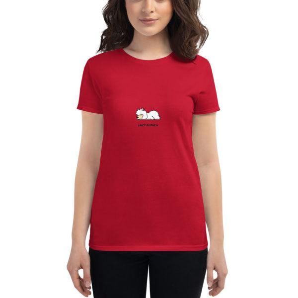 Alpaka T-Shirt rot- Lazy Alpaca