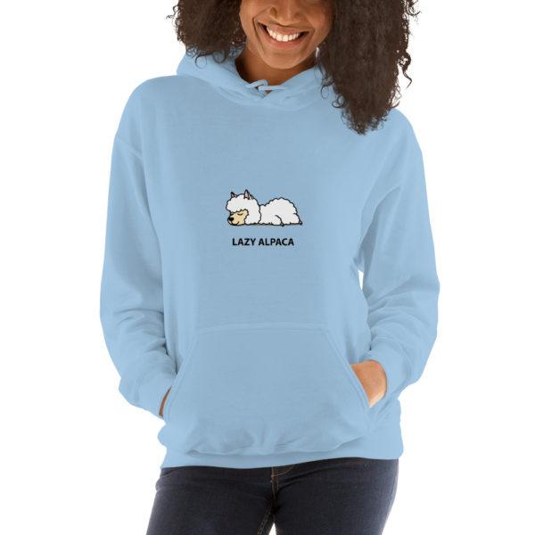 Alpaka Hoodie blau - Lazy Alpaca